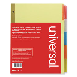 Universal Extended Index Tabs, Manila