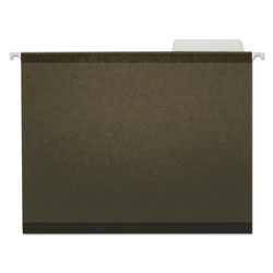 Universal Reinforced 100% Recycled Hanging Folder, 1/3 Cut, Letter, Standard Green, 25/Bx