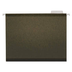 Universal Reinforced 100% Recycled Hanging Folder, 1/5 Cut, Letter, Standard Green, 25/Bx