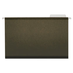 Universal Reinforced 100% Recycled Hanging Folder, 1/3 Cut, Legal, Standard Green, 25/Bx