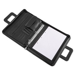Universal Zip Around Padfolio, 141/2w x 23/4d x 111/2h, Black