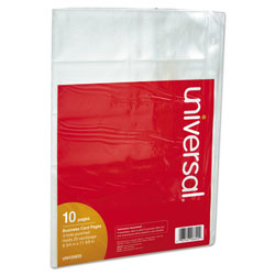 Universal Looseleaf 3 Ring Binder Business Card Pages, 200 Card Capacity, 10/Pack
