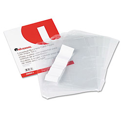 Universal Looseleaf Binder Business Card Pages with Index Tabs, 100 Card Capacity, 5/Pack