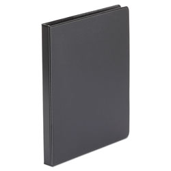 "Universal 52% Recycled Suede Round Ring Binder, 1/2"" Capacity, Black"