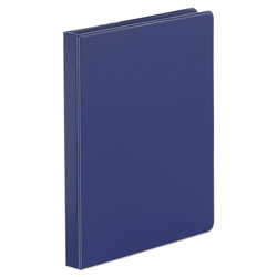 "Universal Suede Finish Vinyl Round Ring Binder, 1/2"" Capacity, Royal Blue"
