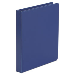 "Universal 49% Recycled Suede Round Ring Binder, 1"" Capacity, Royal Blue"