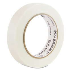 "Universal Premium Grade Filament Tape, 24mm x 55m, 3"" Core, 1 Roll"