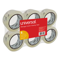 "Universal Carton Sealing Tape, 2"" x 55 Yards, 3"" Core, Clear"