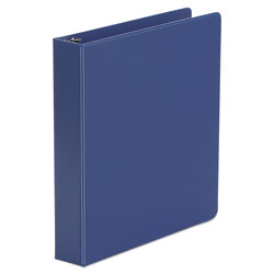 "Universal 49% Recycled Suede Round Ring Binder, 1 1/2"" Capacity, Blue"