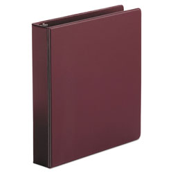 "Universal 49% Recycled Suede Round Ring Binder, 1 1/2"" Capacity, Red"