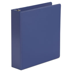 "Universal 47% Recycled Suede Round Ring Binder, 2"" Capacity, Blue"