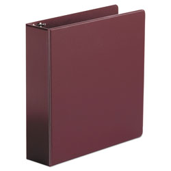"Universal 47% Recycled Suede Round Ring Binder, 2"" Capacity, Red"