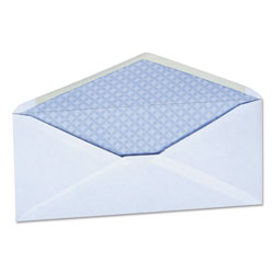 Universal #10 Trade Size Security Tint Plain White Envelopes