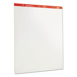 Universal Plain White Perforated Easel Pads, 27 x 34, Two 50 Sheet Pads/Carton