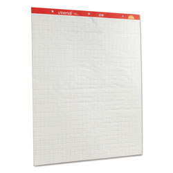 "Universal Quad Ruled 1"" Square Perforated Easel Pads, 27 x 34, Two 50 Sheet Pads/Carton"