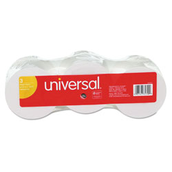 "Universal Calculator Plain Paper Roll, 2 1/4"" x 150 ft., 3 Rolls/Pack"