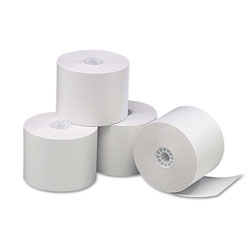 Universal Thermal Paper for Receipt Printers, 2-1/4in x 85` Roll, 3/pack