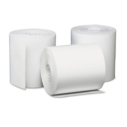 Universal Bulk Thermal Paper for Receipt Printers, 3-1/8in x 230' Roll, 50/carton