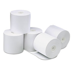 Universal Universal Bulk Thermal Paper for Receipt Printers, 3-1/8in x 273`, Roll, 50/carton