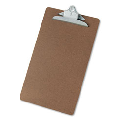 Universal Hardboard Clipboard, Legal Size, Brown