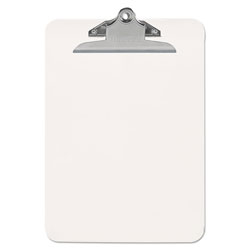 "Universal Plastic Clipboard with High Capacity Clip, 1"" Capacity, 8 1/2 x 12, Clear"