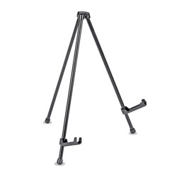 "Universal Portable Tabletop Easel, 14"" High, Steel, Black"