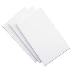 Universal 5 x 8 Plain Index Cards, White, 100 Cards/Pack