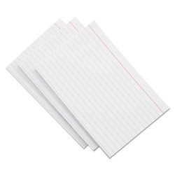 Universal 5 x 8 Ruled Index Cards, White, 100 Cards/Pack
