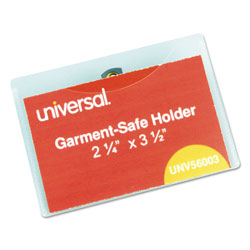 Universal Clear Swivel Clip Style Top Loading Badge Holders with Inserts, 3 1/2x2 1/4, 50/Box