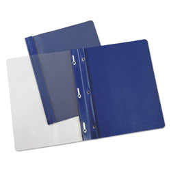 Universal Clear Front Report Cover, Blue, Pack of 25