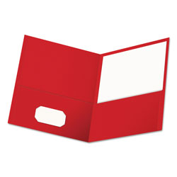 Universal Two Pocket Portfolio, Red, Pack of 25