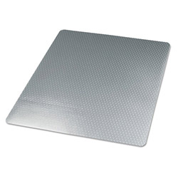 Universal Cleated Chair Mat for Low to Medium Pile Carpets, 46 x 60, No Lip, Clear