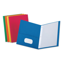 Universal Two-Pocket Portfolio, Assorted Colors, Box of 25