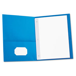 Universal Two-Pocket Portfolio, Blue, Box of 25