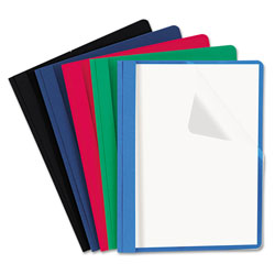 Universal Clear Front Report Cover, Assorted Colors, Box of 25