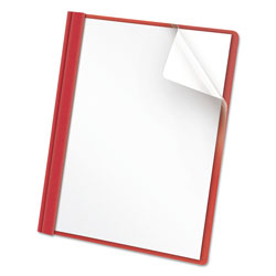 Universal Clear Front Report Cover, Red, Box of 25