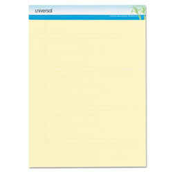 Universal Sugarcane Based Writing Pads, Wide, 11-3/4 x 8-1/2, Canary, 2 50-Sheet Pads/Pack