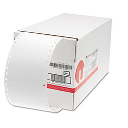 Universal Dot Matrix White Printer Labels, Bulk Pack, 3 1/2 x 1 15/16, 1 Across, 5000/Box