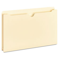 "Universal Manila File Jackets with Reinforced Tabs, 2"" Exp., Legal"