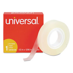"Universal Invisible Tape, 1/2"" x 1296"", 1"" Core"