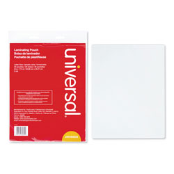 Universal Clear Letter Size Laminating Pouches 9 x 11 1/2, 3 Mil, 25/Pack