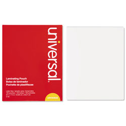 Universal Clear Letter Size Laminating Pouches 9 x 11 1/2, 3 Mil, 100/Box