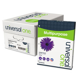 Universal Bulk Bright White Bulk Multipurpose Copy Paper, 3 Hole Punched, 8 1/2x11, 10 Reams/Carton
