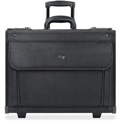 "Solo Computer Catalog Case with Combination Locks, 18""x11""x15"", Black"