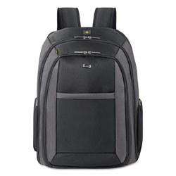 "Solo Laptop Backpack, Holds 16"" Laptops, 13-3/4""x6-1/2""x17-3/4"", BK"