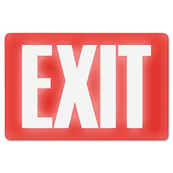 "U.S. Stamp & Sign Glow in the Dark ""Exit"" Sign, 12""x8"", White/Red"