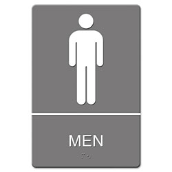 "Quartet ""Men"" ADA Sign, 6w x 9h"""