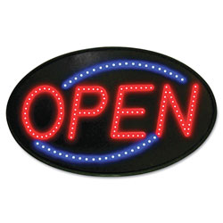 U.S. Stamp & Sign Newon LED Sign, Red/Blue, 13 x 21