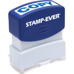 "U.S. Stamp & Sign Stamp, Pre-Inked, ""Copy"", 9/16""x1-11/16"" Imp, Blue"