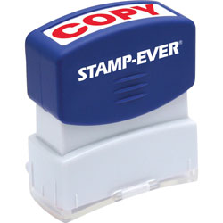 "U.S. Stamp & Sign Stamp, Pre-Inked, ""Copy"", 9/16""x1-11/16"" Imp, Red"